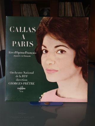DISCO VINILO MARIA CALLAS A PARIS 1962
