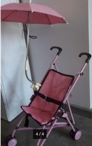 Silla carrito de juguete de muñeca.