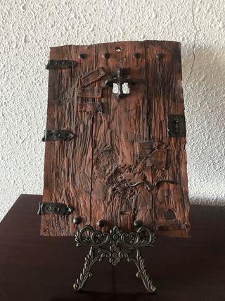 Soporte + puerta de cerámica de Albarracín