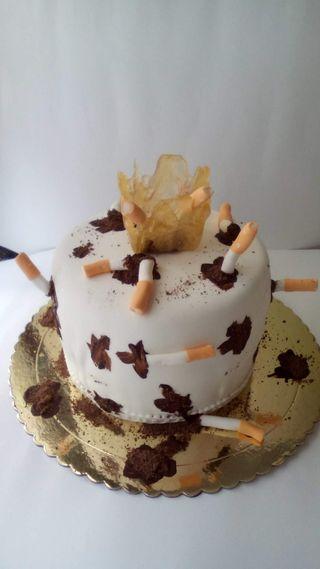 tarta para fumadores se puede comer todoo