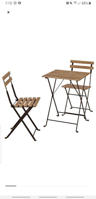 conjunto exterior de mesa y sillas ikea
