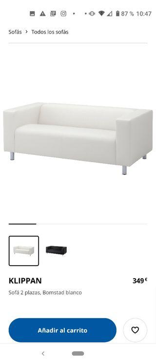 Sofá Klippan Ikea Blanco