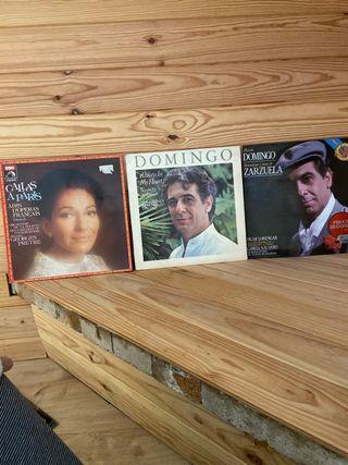 Vinilos Placido Domingo y María Callas