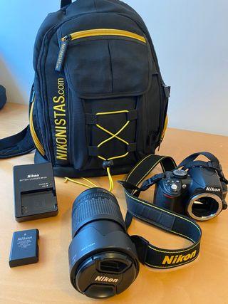 Nikon D3100 y muchos Accesorios