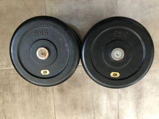 Mancuernas profesionales 10 kg