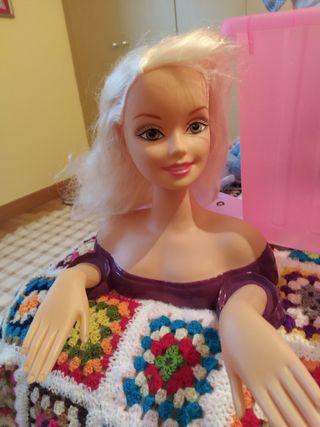 Cabeza muñeca para peinar y maquillar