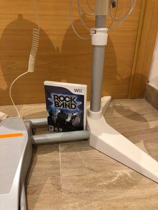 Bateria Wii + Juego Rock Band