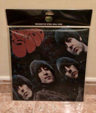 Letrero decorativo metálico de los Beatles