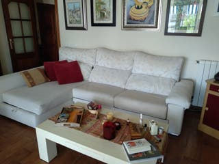 Conjunto sofá cama chaise-longe 3 plazas + sillón