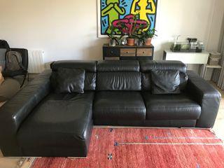 Sofa piel negro