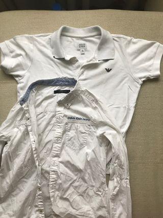 Polo Armani junior y camisa calvin klein