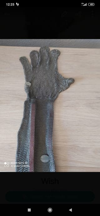 guante de acero para trabajar de matadero