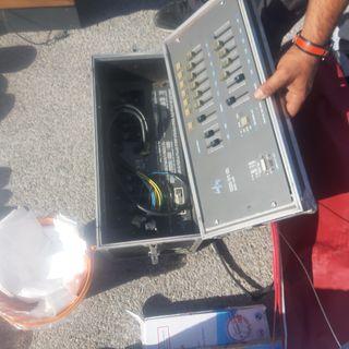 amplificador de sonido y mezcladora