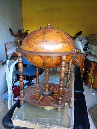 Botellero vintage bola mundo