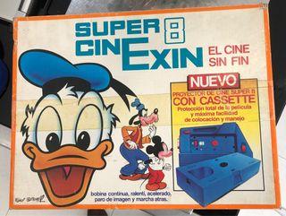 Proyector cine Exin súper 8 + peli Los Snorkels ..