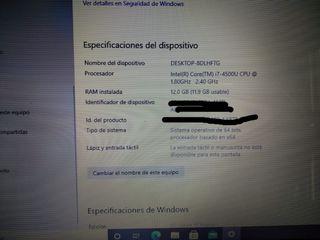 ordenador portátil Lenovo i7