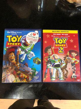 Películas dvd Toy story 1 y Toy story 2