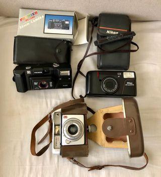 Lote cámaras antiguas