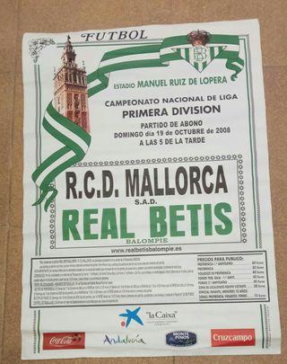 Cartel Real Betis