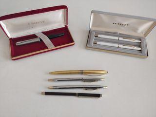 Lote de plumas estilográficas y bolígrafos