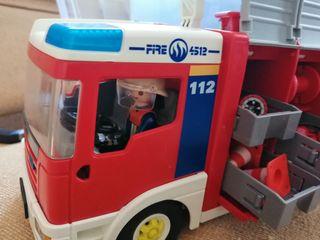 camión de bombero play mobil
