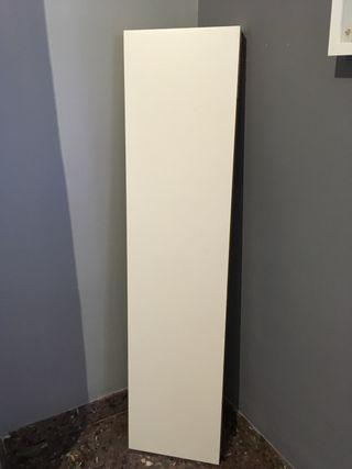 Estante blanco de pared, 110x26 cm