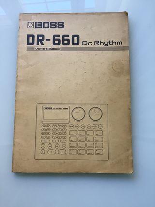 Manual original caja de ritmos Boss DR-660