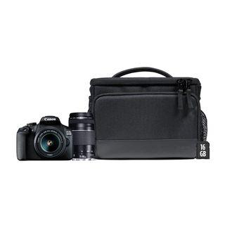 Cámara réflex Canon EOS 2000D con 2objetivos + fu