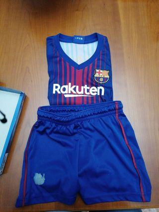 equipaje F.C Barcelona talla 6.