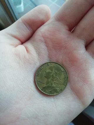 1 Moneda de 20 Centimes de 1963 Francaise