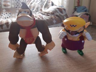 Figuras Wario y Donkey Kong - Saga Super Mario