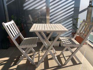 Mesa y sillas plegables para jardin