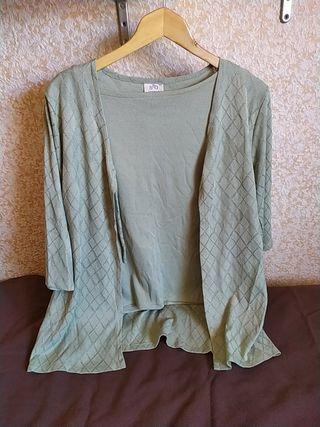 Blusa vintage + cárdigan