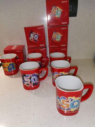 6 Tazas de desayuno Nescafé 50 aniversario