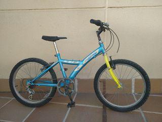 Bici infantil BH California amarilla y azul