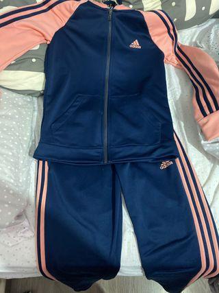 Chandal Adidas original azul y rosa