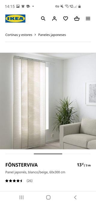 cortinas FÖNSTERVIVA de IKEA