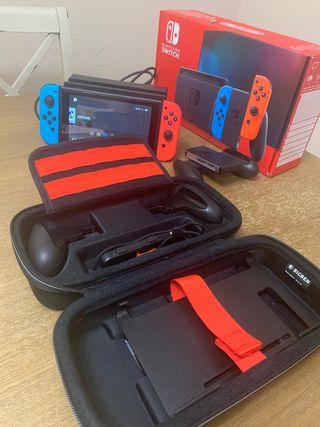Nintendo Switch+juegos+estuche