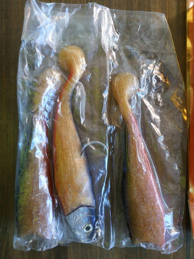 Señuelos vinilo pesca Big fish.