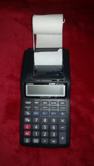 Calculadora impresora Casio HR-8TEC-W