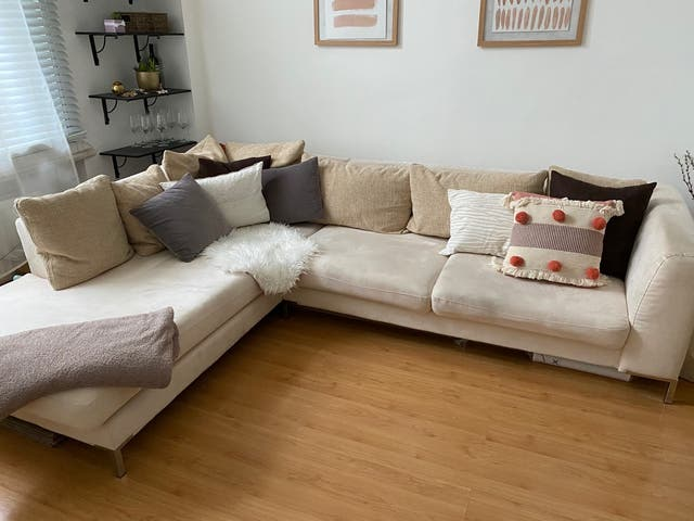 Elegant and cozy sofa