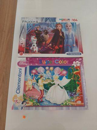 Puzzles de Frozen y Cenicienta