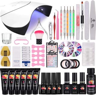 36W Lámpara uv gel y Kit Uñas de Gel Completo