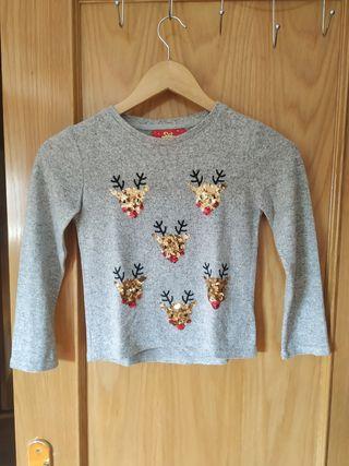 Camiseta calentita Navidad 7-8 años.
