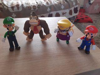 Figuras Mario, Luigi, Wario y Donkey Kong