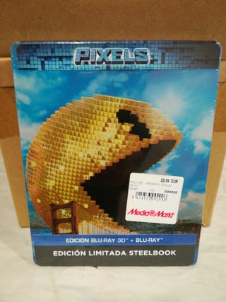 Pixels STEELBOOK Bluray 3D + Bluray