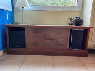 Mueble bajo colonial TV