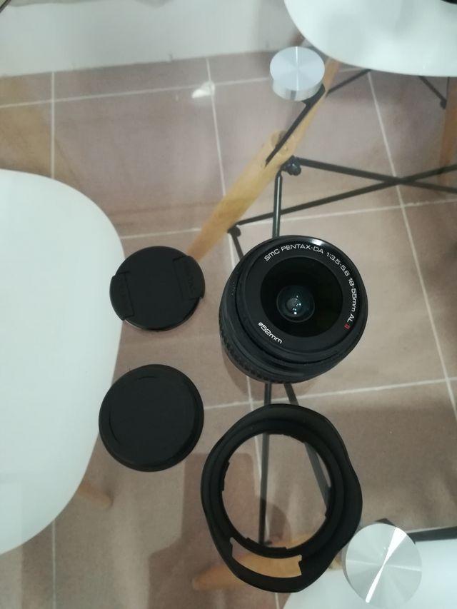 Objetivo Pentax smc da 3.5 5.6 18 55mm AL II