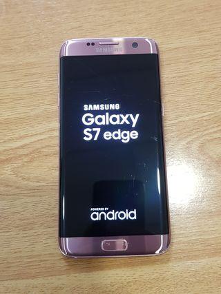 Samsung S7 Edge color rosa funciona todo bien