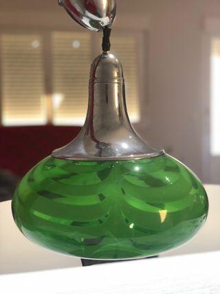 Juego de lámparas Cristal años 70 Real Vintage